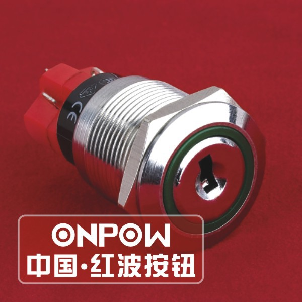 ONPOW 19mm SPDT stainless steel push button switch(LAS1GQ-11Y/2) (Dia. 19mm)(CE,CCC,ROHS,REECH)