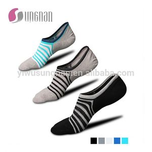 men low cut invisible cotton loafer boat socks with rubber heel
