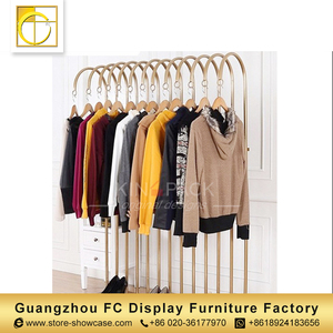 guangzhou factory retail t shirt display racks garments shop decoration shop interior design clothing display racks