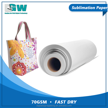 GW Supply 70gsm anti-curling fast dry sublimation transfer paper for inkjet printer