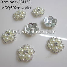 flower pearl rhinestone button for coat,shirts,garments