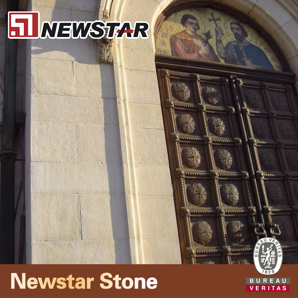 Newstar Vratza Limestone Non-Slip Natural Stone Polished Marble Wall And Floor Boarder Tiles & Slabs For Restaurant