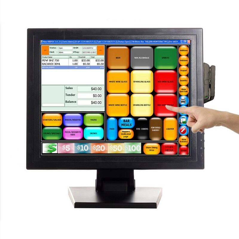 "POS 15"" Touch Screen LED TouchScreen Monitor for Retail Kiosk Restaurant Bar"