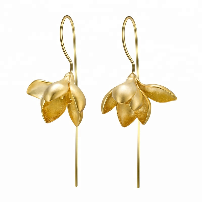 <strong>Flower</strong> Silver Dangle latest <strong>gold</strong> <strong>earring</strong> designs