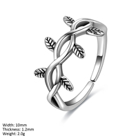 RUA2-025 2017 New Custom 925 Adjustable Antique Sterling Silver Ring