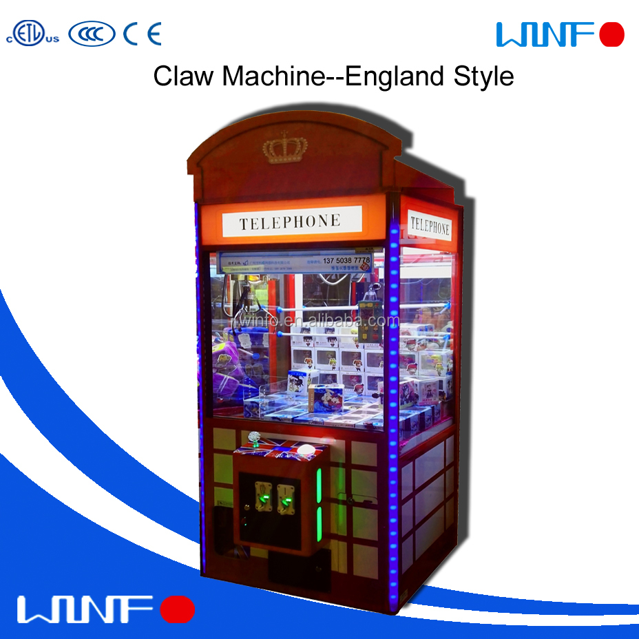 Shopping mall crane claw machine and new arrival gift vending machine and hot sell toy prize game machine