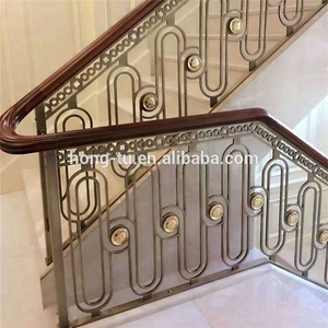 Charmant Paint Finished Prefab Wrought Iron Stair Railings,Indoor Metal Railings