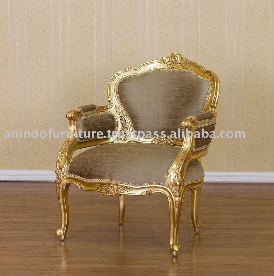 Dorado Muebles De Oro Dorado Silla Con Seda Buy Product On  # Muebles Dorados