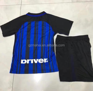 2017-18 child football uniform thailand quality youth soccer jersey kid set