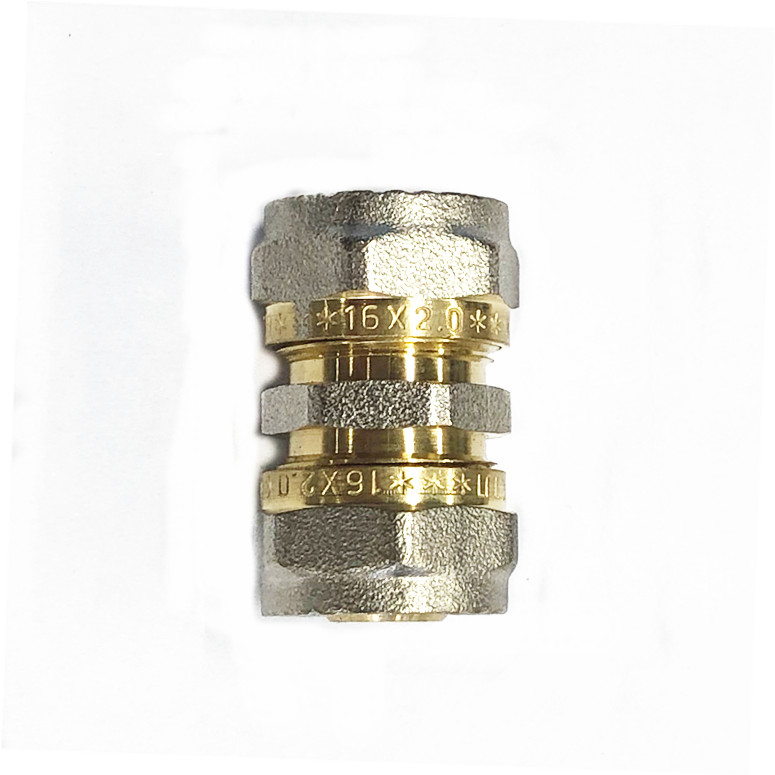 16 x16mm brass compression coupling <strong>fitting</strong>