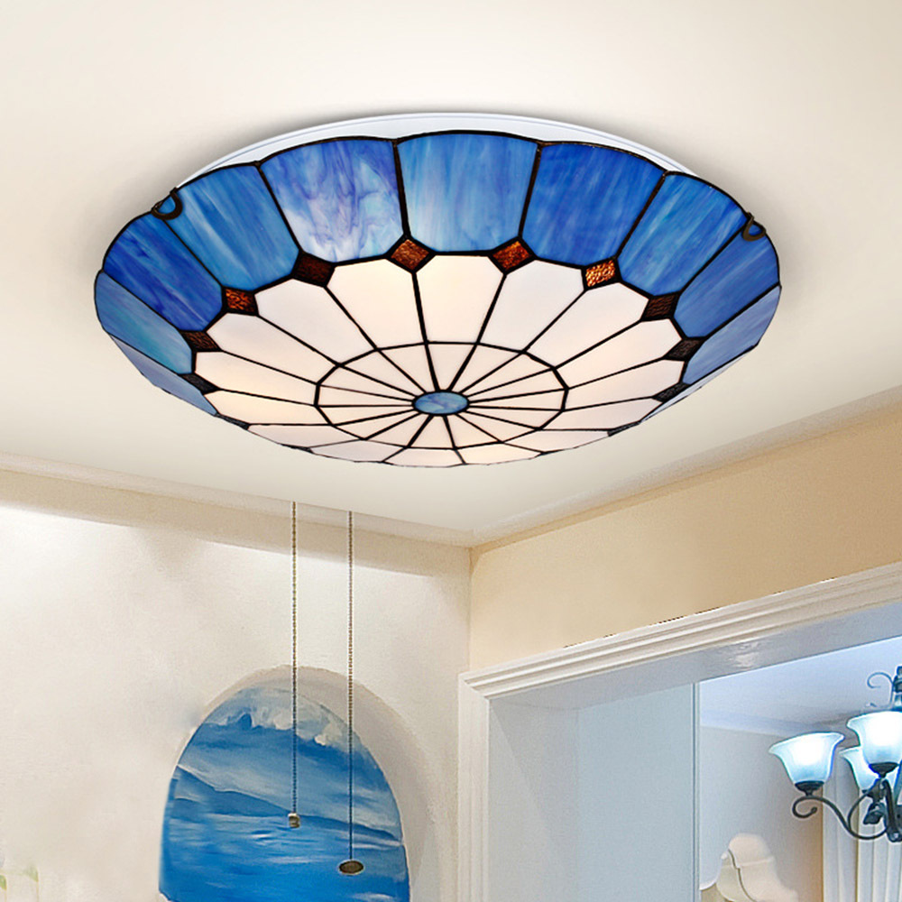 Online Get Cheap Stained Glass Ceiling Light -Aliexpress