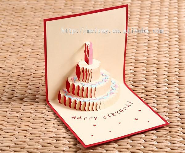 Laser cut 3d geburtstagskarten gl cklich lasergeschnitten handgemachte 3d geburtstagskarte pop - Geburtstagskarte pop up ...