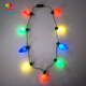 Flashing Light up Necklace LED Bulb Necklace for Christmas