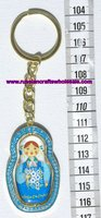 Metal Keychain Keyrings with Ethnic Russian Ornament, Crafts Folk Art National Russia Products Wholesale Shop Online