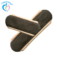 Reusable Women Bamboo Charcoal Cloth Menstrual Pads Washable Sanitary Pads