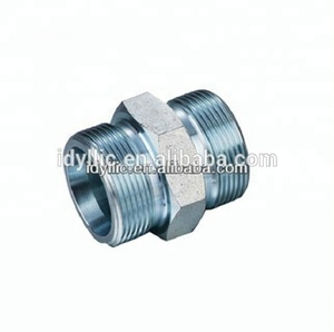 SS, carbon steel metric male straight metric fittings-with ring and nut