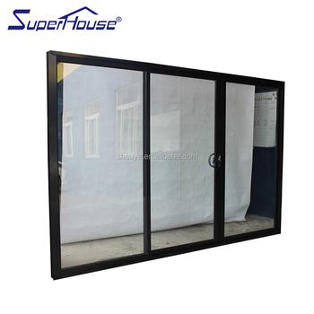 Tempered Glass Sliding Door/aluminium Frame Tempered Glass Interior ...