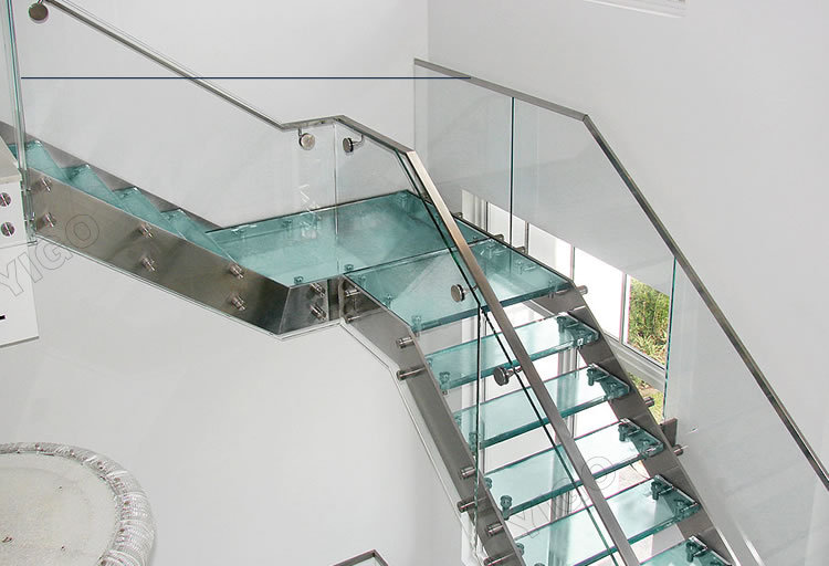 Indoor Steel Wood Double Stringer Stairs/wood Staircase For Sale