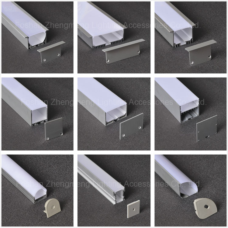 led profile light Square aluminium led profile aluminum case extrusions t8 tube housing, aluminum square tube profile
