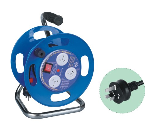 Australian SAA Cable Reels 3-Outlet Cable Reel W/Surge Suppressor available cable 4v-75 3x1.0