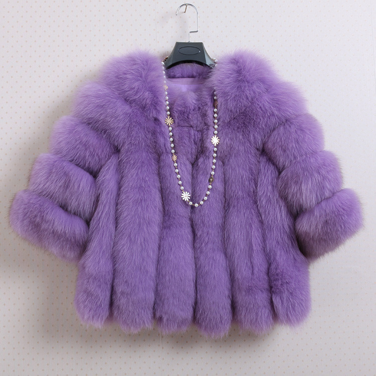 Autumn font b Winter b font hotsale fashion fur female 2016 new arrival O neck luxury