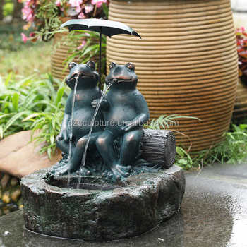 Casting Bronze Frog Water Fountain For Garden Decor