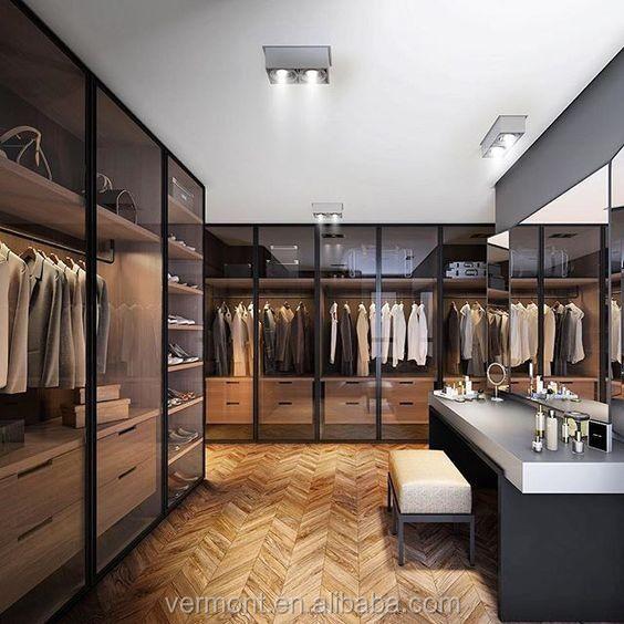 2019 New Modern Luxury Led Light Bedroom Furniture Closet Glass Open Doors Walk In Wardrobe Design Buy Wardrobebedroom Wardrobeluxury Wardrobe