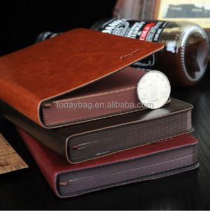 Cheap and nice soft pu leather cover pu notebook