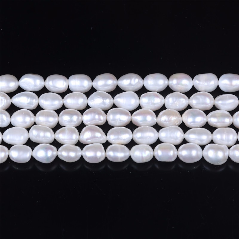 12-15mm white strand of baroque pearls string