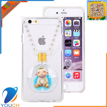 0b4ddd6500bd Soft tpu silicone lanyard perfume bottle monster hunt wuba ring case for iPhone  6 6s 6
