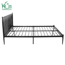 Gratis Monster Full Size Zwart Platform Koningin Koning Metalen <span class=keywords><strong>Bed</strong></span>