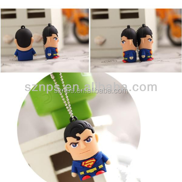 Fashion novely copy data free accept paypal escrow mini super hero usb memory stick