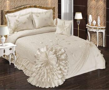 maria bedspread set buy embroidery bedspread turkish. Black Bedroom Furniture Sets. Home Design Ideas