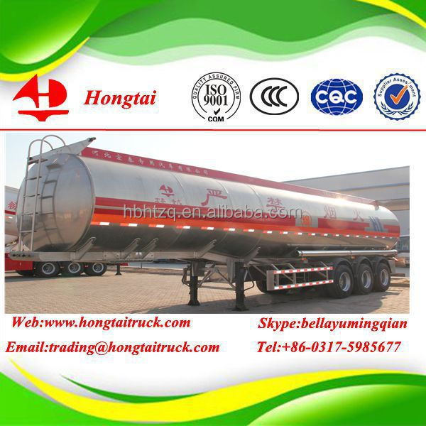 3 axle 50000 liters good used and cheap petrol tanker semi trailer for sale