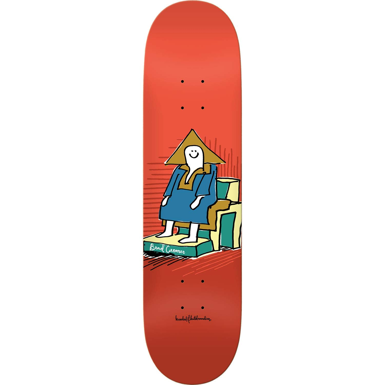 "Krooked Skateboards Brad Cromer Hi Chair Skateboard Deck - 8.06"" x 31.8"""