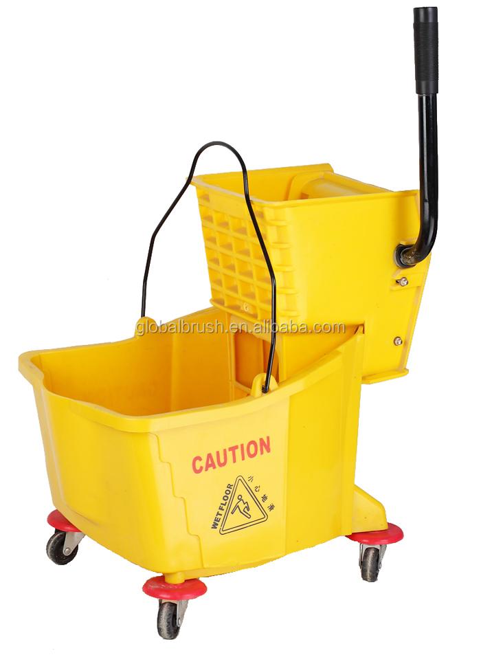 Hq2334 60l Double Wringer Mop Bucket Hotel Mop Cart Heavy