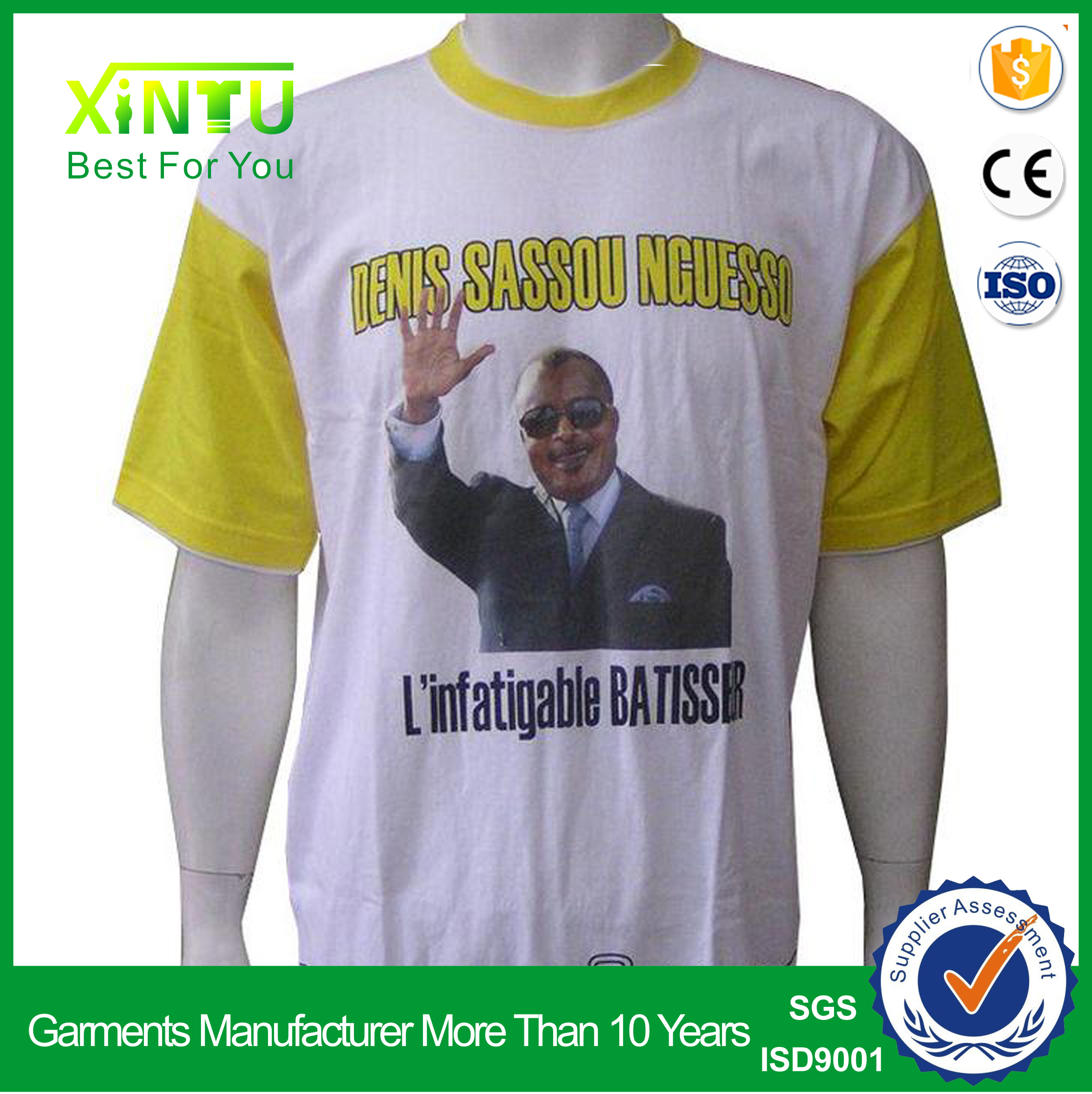 White election t shirt promotion political Campaign advertising t-shirt OEM