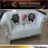 Fashion Design White Leather Chaise Lounge Sectional Chair