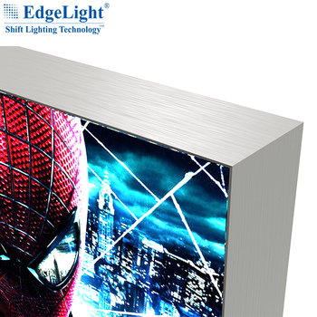 TradeShow Display Standing Advertising Textile LightBox, High Bright Frameless Slim LED Large Fabric Light Box