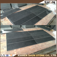 The lowest price of dark grey stone tile and slab, G654 quarry and factory price, Popular paving stone