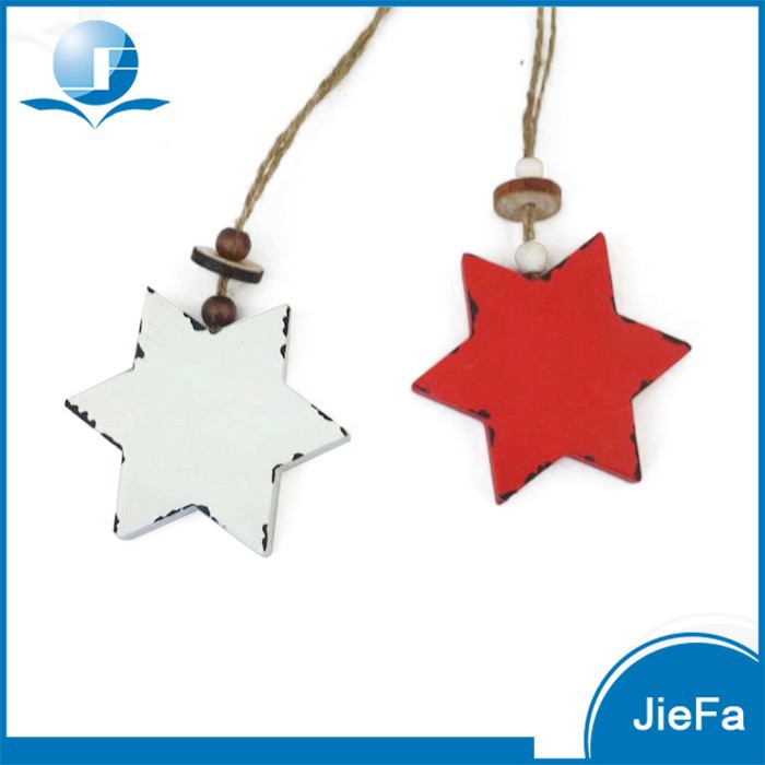 papermache/paper pulp hanging star/deer/heart/ tree for christmas decoration