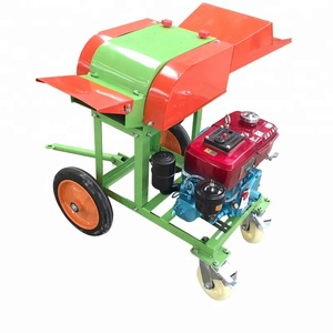 Mini Mobile Diesel Engine Driven Home Using Cow Feed Grass Chaff Cutter Machine Price