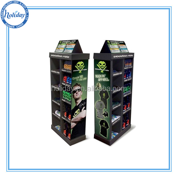 Draagbare t shirt vloer display stand weer te geven staan for Portable t shirt display