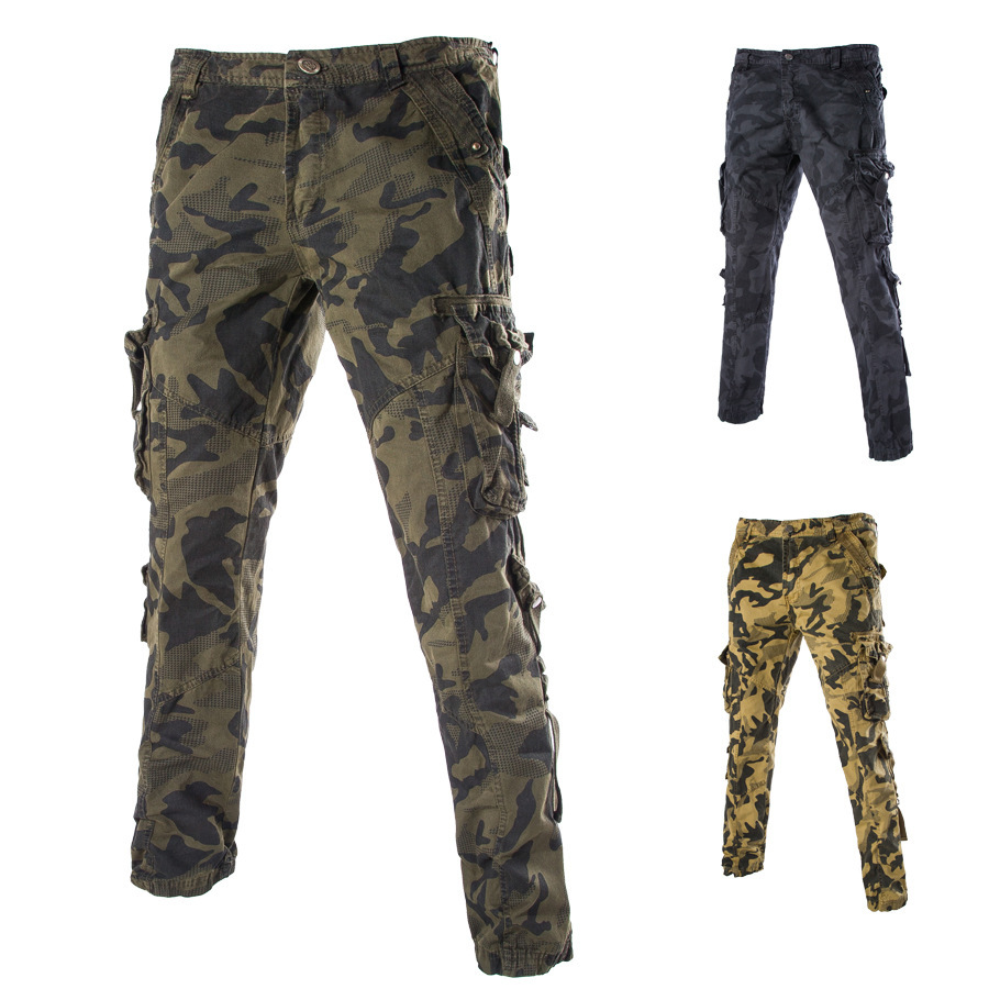 Buy high quality New Vintage Military Tactical Fatigue casual canvas Pants  Combat Mens Cotton Cargo Pants baggy trousers camo Pants in Cheap Price on  ... 315948291a3