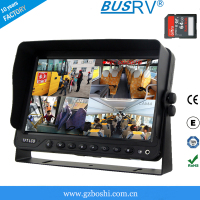 7 inch car DVR quad lcd monitor built in 64G SD card.