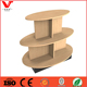 Free Standing 3 Tiers Oval Retail Store Display Table