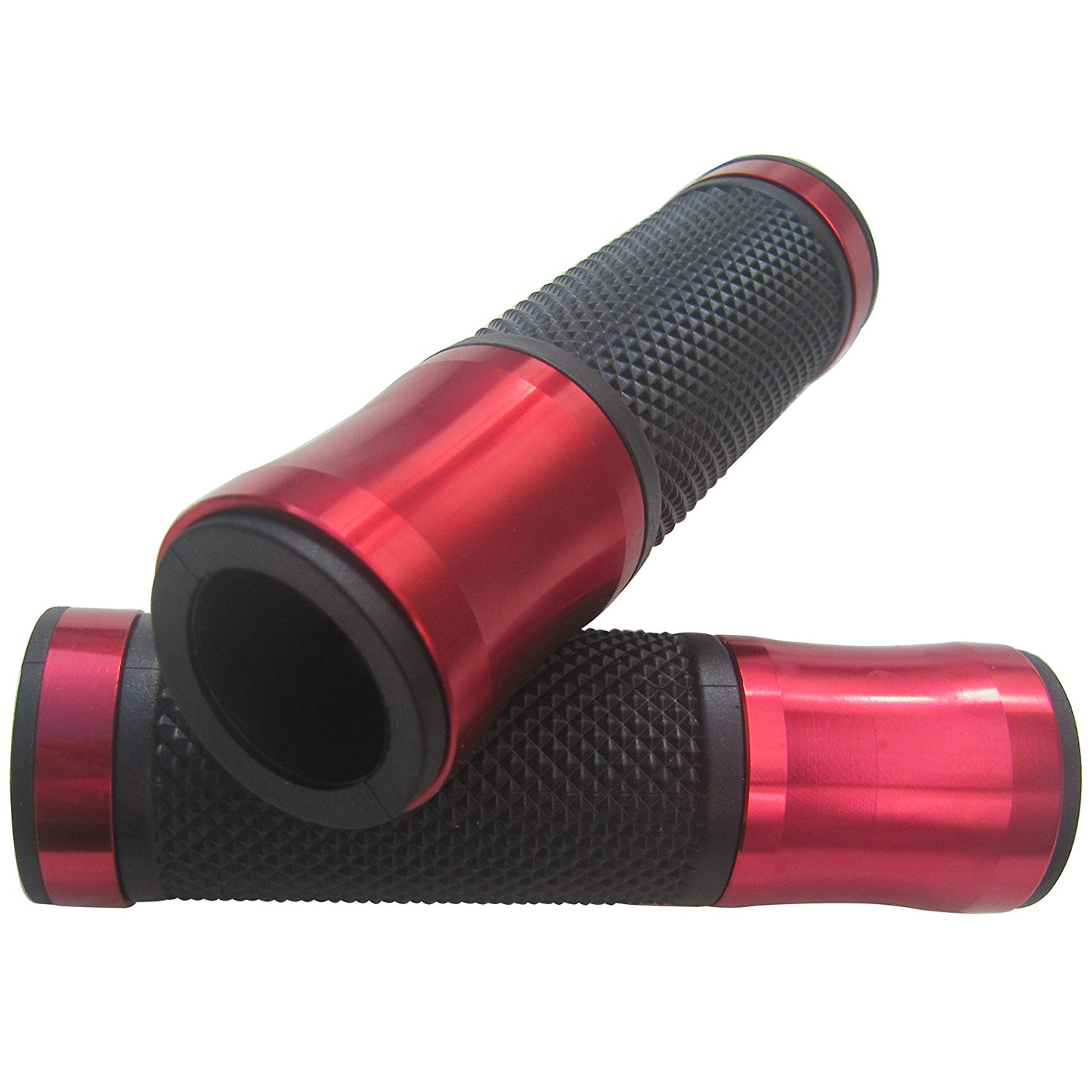 """ALUMINUM MOTORCYCLE 7/8"""" 22MM HANDLEBAR GEL RUBBER HAND GRIPS RED FOR 2004 Yamaha YZF R6"""