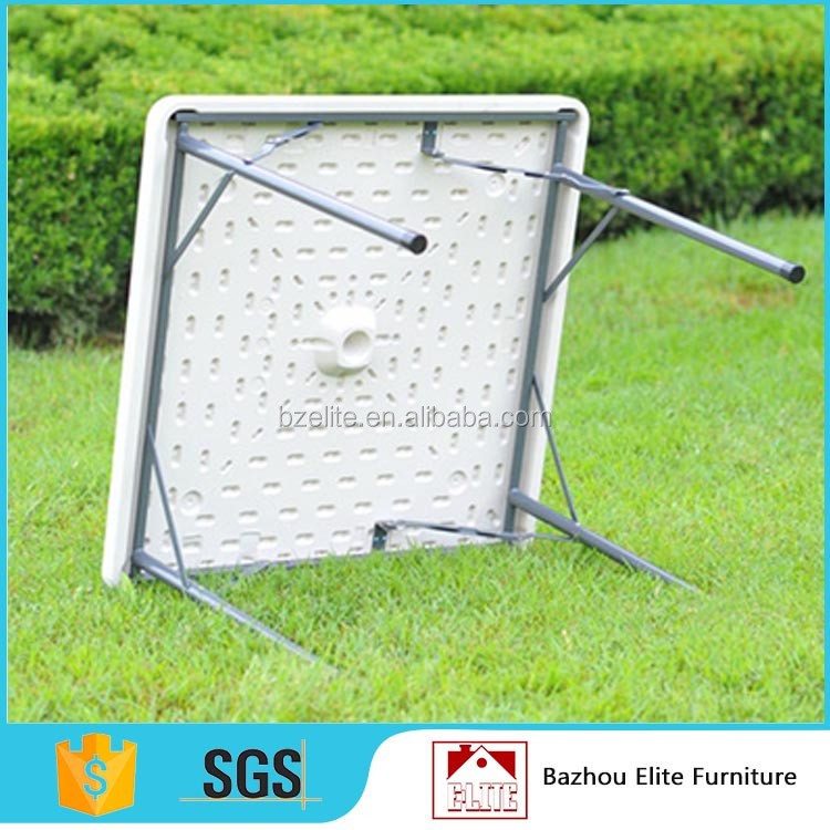 Wholesale outdoor square plastic folding table, blow mold folding table