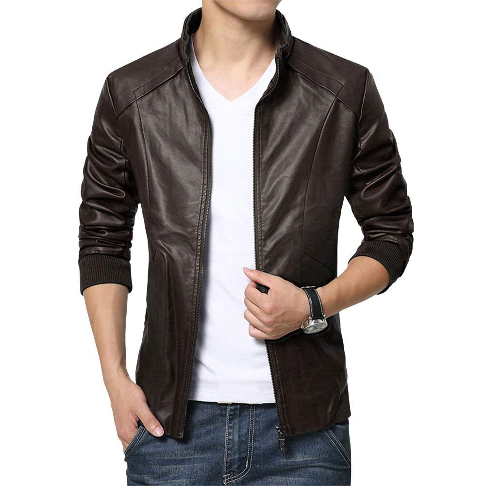 Cheap Mens Leather Jacket Stand Up Collar Find Mens Leather Jacket