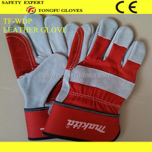 "high quality 14"" cotton lining blue light winter glove"